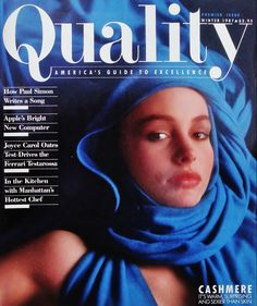 """The Best Designed Magazine I Ever Saw."" Art director Robin Benson on 1987 Quality magazine. http://www.spd.org/2014/10/the-best-design-magazine-i-eve.php"