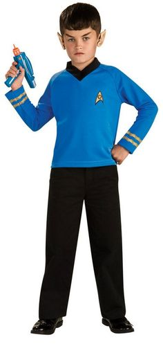 Star Trek Classic Blue Child Costume Description: A Valiant Vulcan. A Classic Spock look, this costume is perfect for your Little Wise One! Costume features a blue lon Superhero Costumes For Boys, Boy Costumes, Super Hero Costumes, Movie Costumes, Mascot Costumes, Adult Costumes, Costumes For Women, Halloween Costumes, Star Trek Wedding