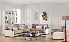 Modern sectional sofa.