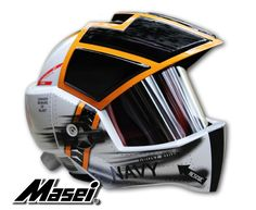 Masei 911 Xcross Jet US Navy F14 Tomcat Motorcycle Bike Chopper Harley Arai Helmet