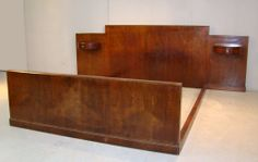 Bed Art Deco, #Jules #Leleu. #1927. For sale on Proantic by La Maison Bananas.