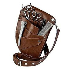 Equinox Barber & Salon Leather Holster - Holder for Haircutting Scissors/Shears, Clippers, Styling Combs and other Salon Tools - Genuine Brown Leather Equinox International http://www.amazon.com/dp/B00M2289P2/ref=cm_sw_r_pi_dp_1aP7tb0S996FF