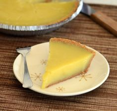 It may sound off-putting, but just wait till you read why vinegar is a great addition to this custardy pie.