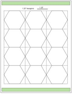 Geta's Quilting Studio: Tips for cutting hexagon templates.  Printable templates for various sizes.