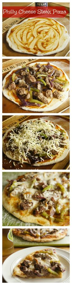 Philly Cheesesteak Pizza: A Fun Twist on the Philly Cheese Steak Sandwich! via wearychef.com