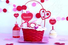 val basket and heart designs