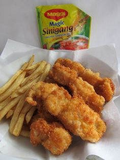 Sinigang Flavored Fish and Fries Sinigang, Fish And Chips, Fries, Om, Magic, Dishes, Vegetables, Cooking, Kitchen