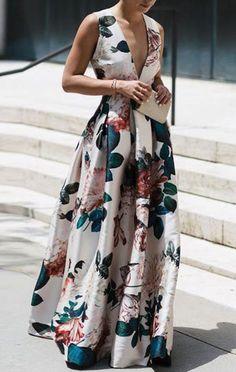 Stylish Floral Print Sleeveless floral maxi dress maxi dress formal maxi dress summer maxi dress casual maxi dress for wedding guest boho maxi dress floral maxi dress Stylish Dresses, Sexy Dresses, Evening Dresses, Casual Dresses, Fashion Dresses, Dress Outfits, Long Dresses, Fashion Clothes, Backless Maxi Dresses
