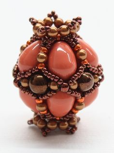 """Sabine Lippert: """"Ayshe- An oval beaded bead and variable because of the different kinds of beads, that can be used, so every single one is looking different."""""""