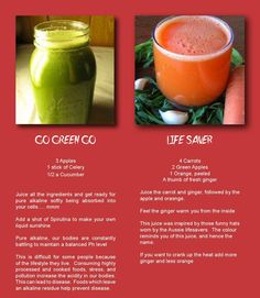 #ClippedOnIssuu from Fresh Vegan Magazine Issue 2 - 2014   juicing  - Go Green Go (apples, celery, cucumber), Life Saver -  carrots, green apples, orange, ginger