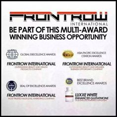 Who's looking for a Multi Level Marketing Company? (Network Marketing) Be Part of Our Group… Frontrow International is looking for a dynamic individuals old and above. Glutathione Whitening, Wellness Industry, Prove It, Multi Level Marketing, Good Company, Business Opportunities, 6 Years, Awards, Wisdom