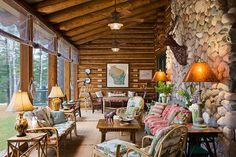 Lake home screened porch!