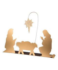 This metallic silhouette of the nativity brings a brilliant spiritual presence to your seasonal décor.