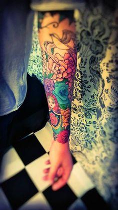 work in progress #matrioska #tattoo #roses