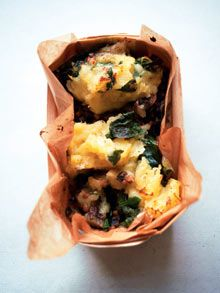 Nigel Slater, Lentil and spinach cottage pie and Orecchiette with aubergine, basil and lemon