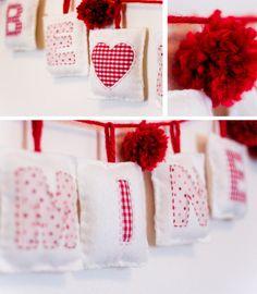 Valentine Pillow Bunting Tutorial