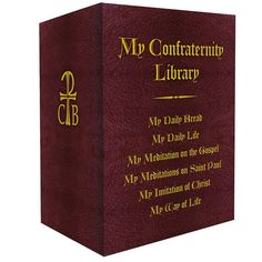 MY CONFRATERNITY LIBRARY     6 Book Set includes the following titles: My Daily Bread My Daily Life My Imitation of Christ My Way of Life My Meditation on the Gospel My Meditations on Saint Paul  For more than 50 years, these six titles have nourished the soul.  Millions of readers have found in these treasured books a source of inspiration and grace. Conveniently sized for pocket, palm, or purse, these little devotions are treasures of wisdom and consolation. Available for the first time in…