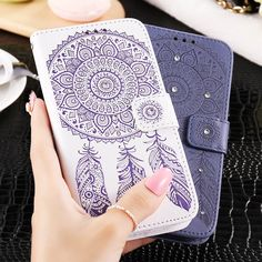 FLOVEME PU Leather Wallet Phone Cases For iPhone 6s Plus Bling Glitter Diamond Flower Cover For iPhone6 Plus Flip Wallet Bags // iPhone Covers Online // Price: $ 9.95 & FREE Shipping // http://iphonecoversonline.com //  I like the blue one but in black or brown or one of each