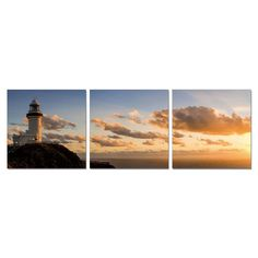Furinno Senia 'Lighthouse' Wall Mounted Triptych Photography Prints