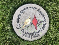 Your place to buy and sell all things handmade Great Wedding Gifts, Bridal Gifts, Memorial Garden Stones, Painted Rocks, Hand Painted, Bereavement Gift, Cardinal Birds, Lilac Flowers, Sympathy Gifts