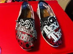 Texas Tech Toms.  Custom made Toms. $120.00, via Etsy.