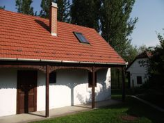 front view Nagyvisnyo - Authentic Hungarian paraszthaz  for rent - $500 per week . 2 bedrooms, 2 bath, kitchen, dining, terrace and garden .