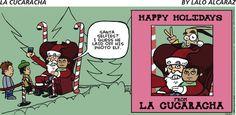 #Santa selfies! | Read La Cucaracha #comics @ www.gocomics.com/lacucaracha/2014/12/21?utm_source=pinterest&utm_medium=socialmarketing&utm_campaign=social-pin | #GoComics #webcomic #Christmas