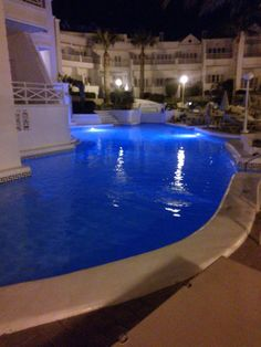 Pool at night at the Hotel Lagos De Fanabé, Tenerife