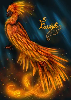A doodle that turned into Fawkes the Phoenix Have been meaning to do some HP art ever since my childhood ended (in my mind, not in reality xD) with . Harry Potter Kunst, Magia Harry Potter, Harry Potter Painting, Harry Potter Artwork, Harry Potter Drawings, Harry Potter Tumblr, Harry Potter Wallpaper, Harry Potter Characters, Fantasy Art