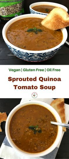 Welcome to Simple Sumptuous Cooking, a vegan cooking blog! Here's a quick recipe for Sprouted Quinoa Tomato Soup . #sponsored, #ad #truRoots