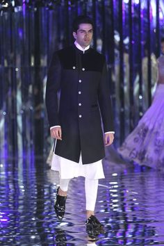 Manish Malhotra at India Couture Week 2017 Call/ WhatsApp for Purchase inqury : Mens Indian Wear, Mens Ethnic Wear, Indian Men Fashion, India Fashion Men, Men's Fashion, Indian Groom Dress, Wedding Dresses Men Indian, Wedding Dress Men, Wedding Groom