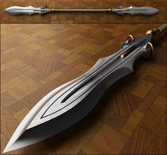 Cool concept, futuristic, medieval and fantasy weapons Swords And Daggers, Knives And Swords, Katana, Armas Ninja, Medieval Weapons, Arm Armor, Fantasy Weapons, Medieval Fantasy, Airsoft