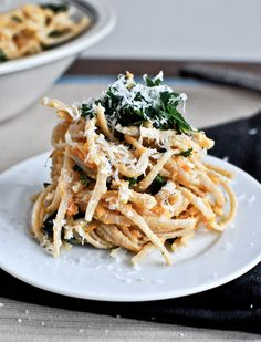 Sweet Potato pasta. New discovery: crispy kale is delicious!