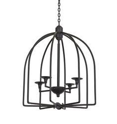 Go Home Newfane Light Fixture 36.25x23.25  20% off www.zuzus-petals-vintage-home.myshopify.com #chandelier #brasschandelier #cagechandelier