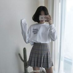 #ulzzang #outfit #tennis skirt