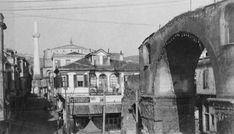 Η Καμάρα στολισμένη με λαμπιονια-γιρλαντα, με φόντο τη Ροτόντα, το 1928