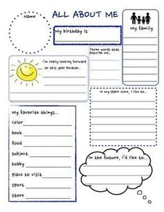 All About Me Activities for Kindergarten . 69 All About Me Activities for Kindergarten . Free Literacy Worksheets for Kindergarten New Collection Free All About Me Printable, All About Me Worksheet, Beginning Of School, First Day Of School, Middle School, Get To Know Me, Getting To Know You, Get To Know You Activities, All About Me Activities