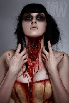 300 plus pins of CaBeatrices Makeup FX Board........open wound fx slit neck prosthetic