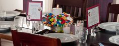 Lego Wedding Centerpieces... Building a New Life Together One Block at a Time.. plus gives the kiddos/big kids in us all something to do while waiting