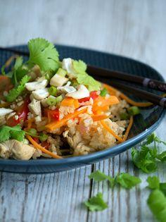 Fried Rice med kylling - 4 personer