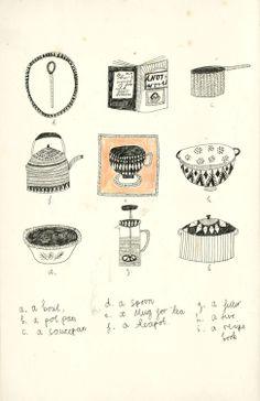 Kitchen things. By Kat Frank http://kattfrank.tumblr.com