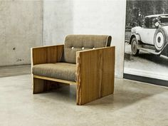Armchair with armrests 2026 by holz elf design Braun