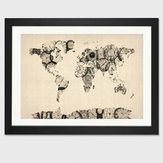 Trademark global michael tompsett urban watercolor world map trademark global michael tompsett urban watercolor world map canvas art 18 x 24 watercolor urban and canvases gumiabroncs Gallery