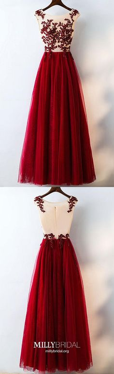 Formal Red Tulle Prom Dress Long With Lace, Shop plus-sized prom dresses for curvy figures and plus-size party dresses. Ball gowns for prom in plus sizes and short plus-sized prom dresses for Prom Dresses For Teens, A Line Prom Dresses, Tulle Prom Dress, Lace Evening Dresses, Pageant Dresses, Trendy Dresses, Nice Dresses, Formal Dresses, Long Dresses