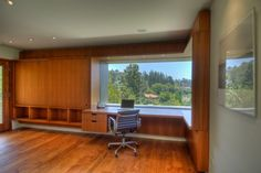 I like this Writer's Studio because it is bare and has a great view.