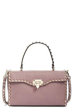 9e2eaf4906 Valentino  Rockstud  Calfskin Leather Single Handle Shoulder Bag