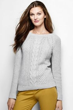 Women s Lofty Blend Cable Sweater from Lands  End Cardigan Sweaters For  Women 53d9d7cfa