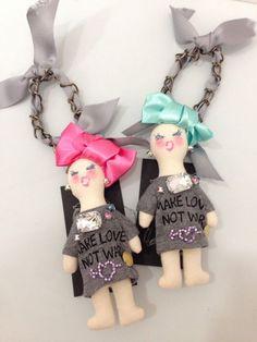 demodee jyaksyo お人形 バッグチャーム ブローチ - boutique Elegance & petit pois