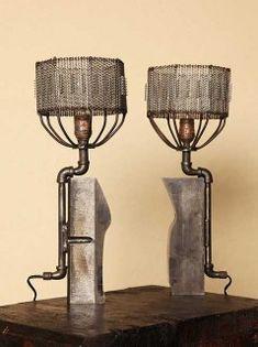 industrial repurposed lamps