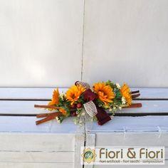Decorazione fiori artificiali girasoli winter